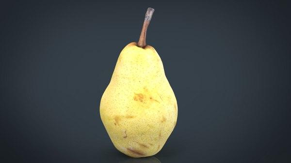 3D model yellow pear