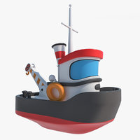 cartoon boat toy tugboat 3D