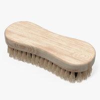cleaning brush light wood model