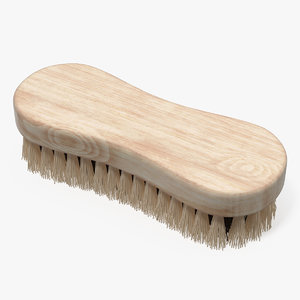 cleaning brush light wood model