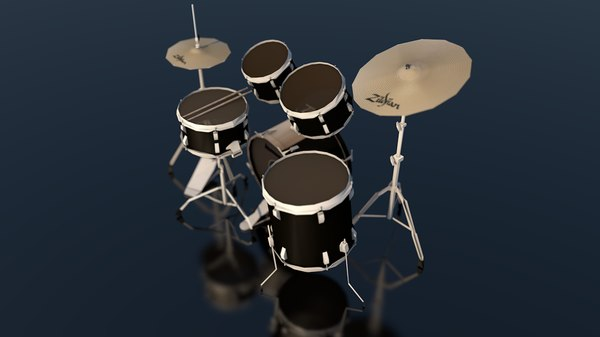 3D ludwig drum set