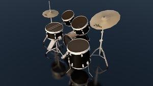 3D ludwig drum set