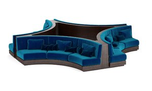 3D booth seating sofa luxury