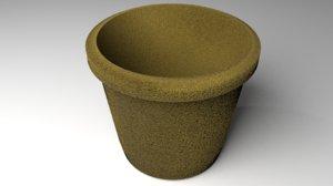 3D flowerpot 3