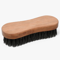 3D cleaning brush dark wood