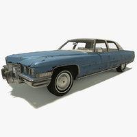1972 cadillac fleetwood 3D model
