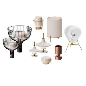 set table lamps sollos 3D model