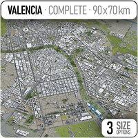 city valencia surrounding area 3D model