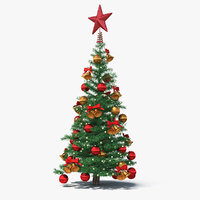 small holiday christmas tree 3D