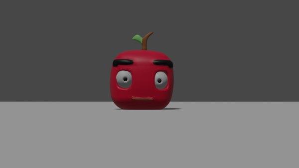 apple cartoon 3D