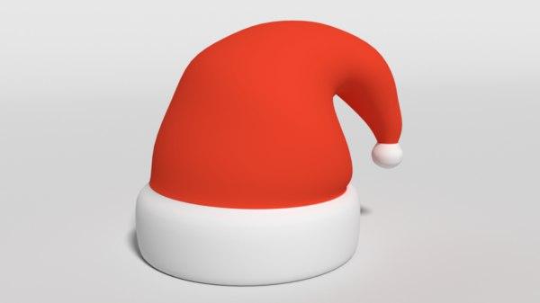 santa claus hat cartoon model