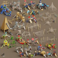 3D architectural playtowers towers