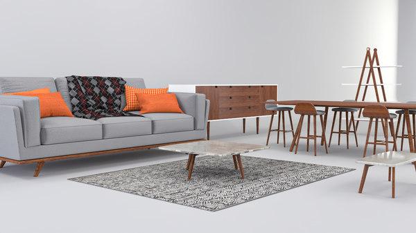 3D living room set