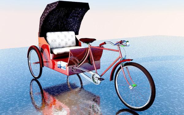 byke rickshaw model