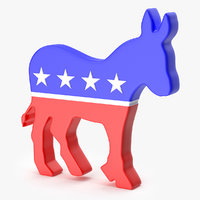 logo democrat party 3D