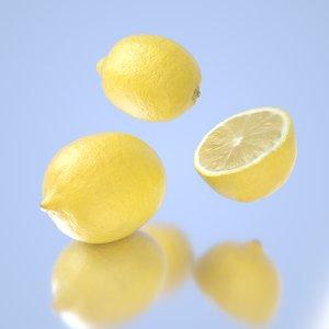 3D model photorealistic lemons