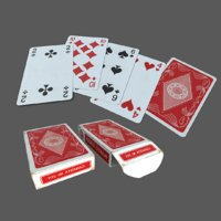 3D classic playing card