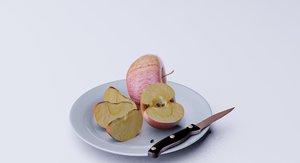 apple plate fruit model