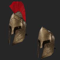 Low Poly Spartan Helmet