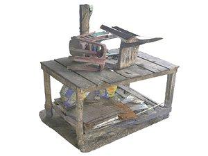 old asia street food 3D model