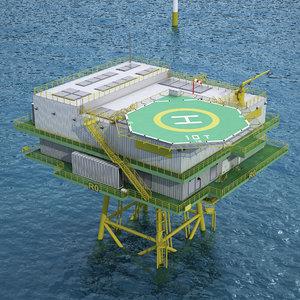offshore windfarm 3D model