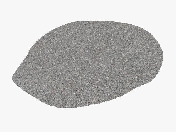 3D pavement section
