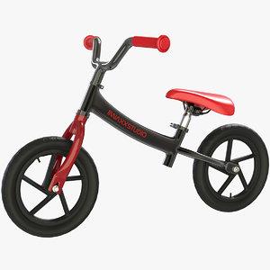 3D balance bike