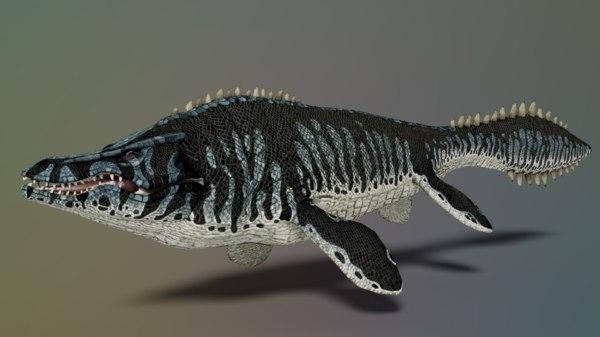 mosa mosasaurus 3D model
