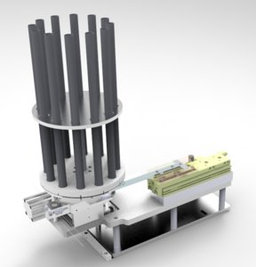 3D pneumatic division rotary feeding model