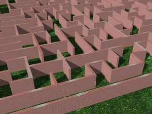 3D model maze games