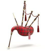 bagpipe bag pipe 3D