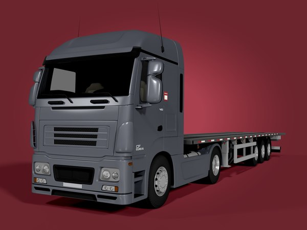 flat bed flatbed 3d obj