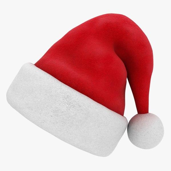 3D realistic santa hat