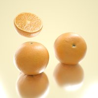 3D photorealistic oranges model