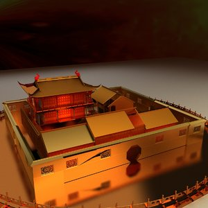 3D chinese courtyard model