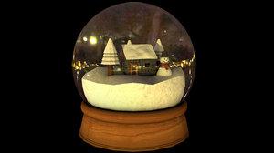 snowglobe trees house model