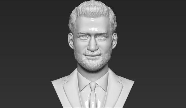 prince harry bust ready 3D model