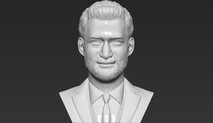 prince harry bust ready 3D model