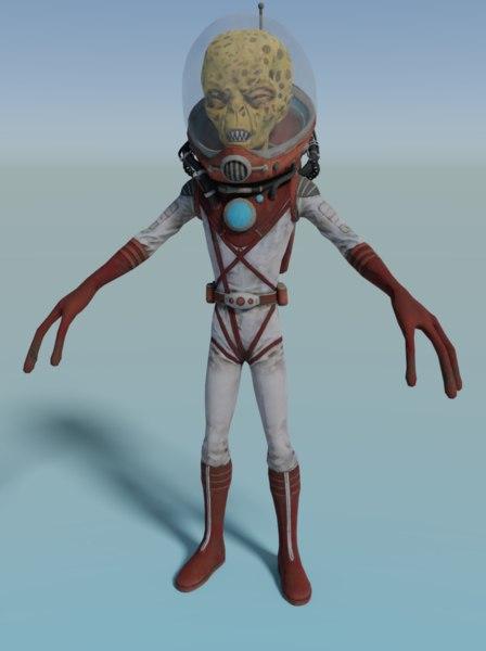 3D model character alien