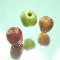 photorealistic apples 3D