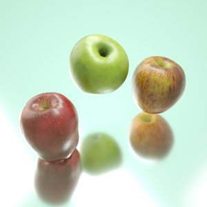 photorealistic apples 3D