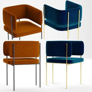 3D crescent armchair derlot editions
