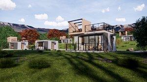 3D bungalow 25m2