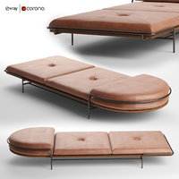 geometric daybed bassam fellows 3D model
