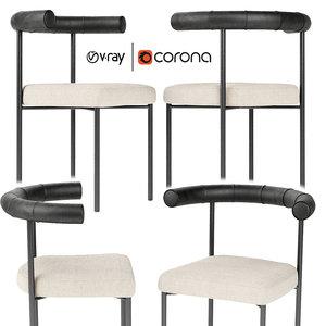 3D kashmir chair simon james model