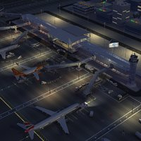 Airport Airfield Night