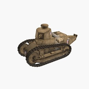 renault ft 17 french 3D model