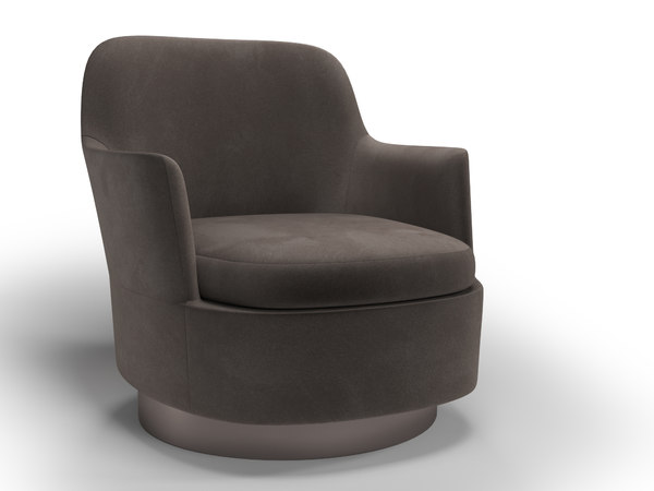 modern armchair jacques minotti 3D model