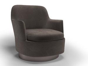 modern armchair jacques minotti 3D model