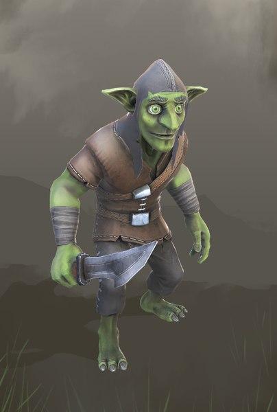 3D model goblin ready